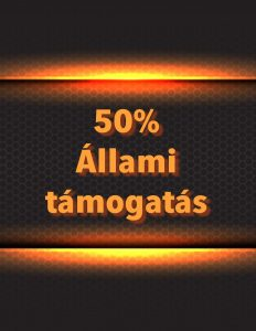 50% állami támogatás